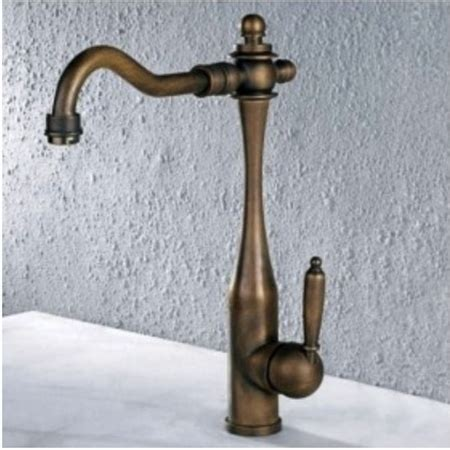 antique brass single handle centerset kitchen faucet
