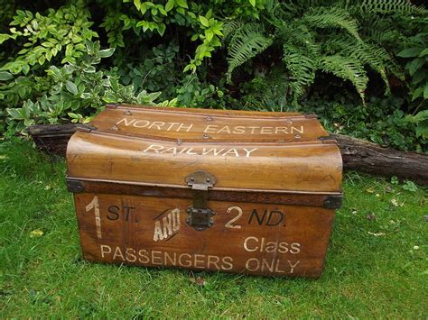 original railway tin trunk by woods vintage home interiors