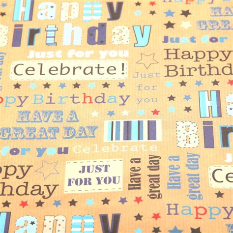 printable wrapping paper happy birthday 6 best images of printable happy birthday paper free