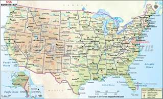 buy usa wall map with major cities