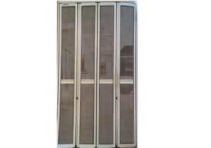 Folding security screen door