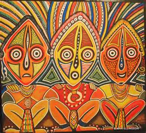papua guinea art magic moments