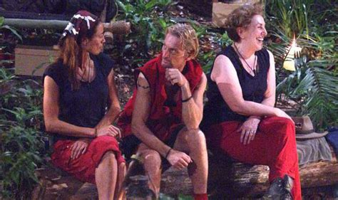 celebrity jungle tonight s trial i m a celeb c mates have a heart to heart celebrity