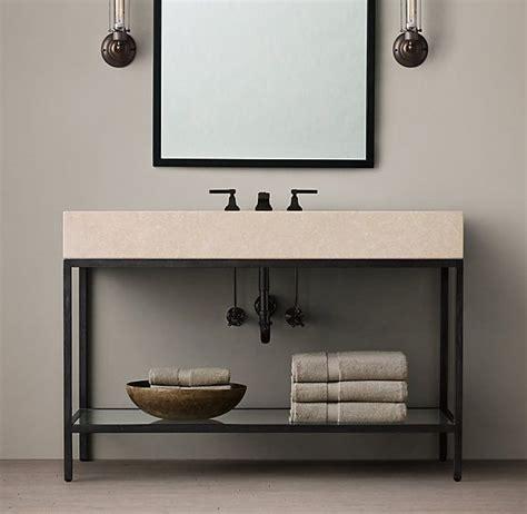 Bathroom Sink Metal Frame Basement Vanity Solution Rh Inspiration Future Ikea Hack