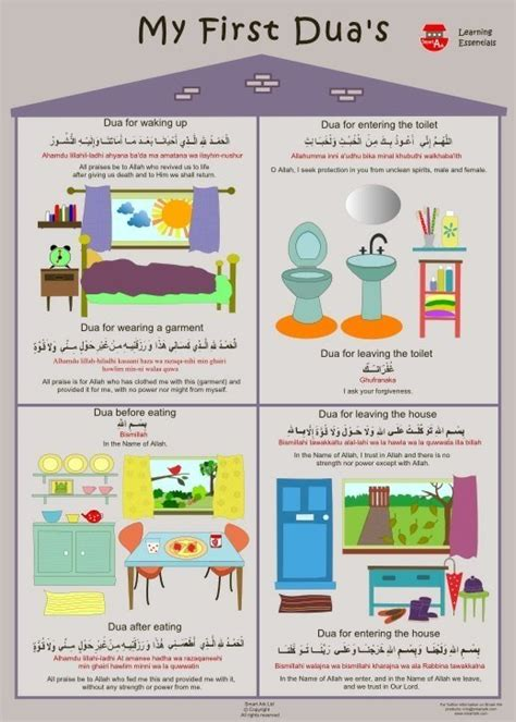 my first duas learning essentails poster posters