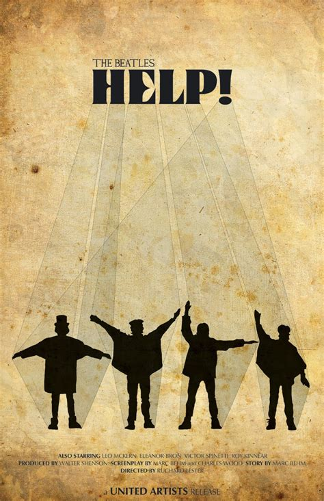 Poster Classic Vintage Help The Beatles con alma de blues help the beatles 1965 pelicula