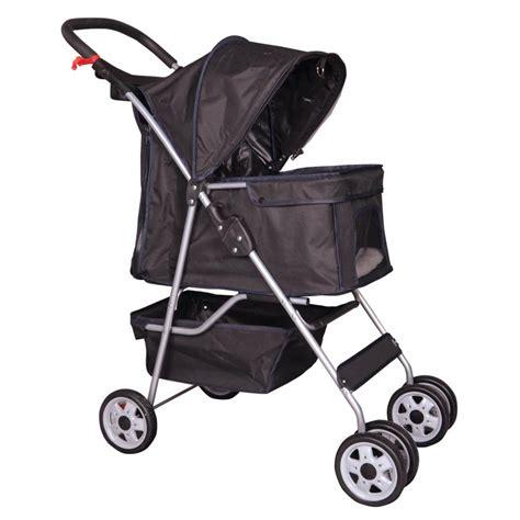 puppy strollers 4 wheels pet stroller cat cage stroller travel folding carrier 5 color 04t