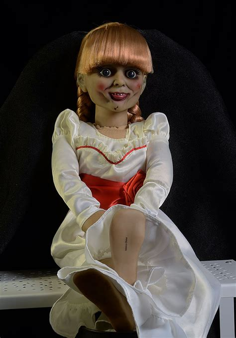 annabelle doll review and photos of annabelle scaled prop replica doll by