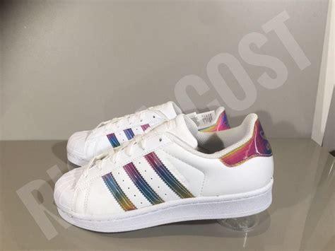 adidas superstar white rainbow iridescent aq0798 boys all sizes ebay