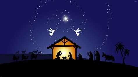 Christmas Wallpaper Nativity Scene | nativity scene wallpaper holiday wallpapers 50278