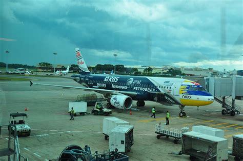 Airasia Singapore Terminal | aeroplane spotting photograph airasia airbus a320 216
