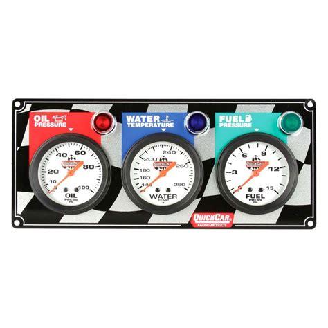 Panel Spedometer Custom Starlet quickcar racing 174 61 6012 checkered standard 2 5 8 quot 3 panel pressure water temp