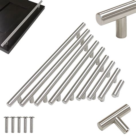 stainless steel hollow t bar kitchen cabinet door handles
