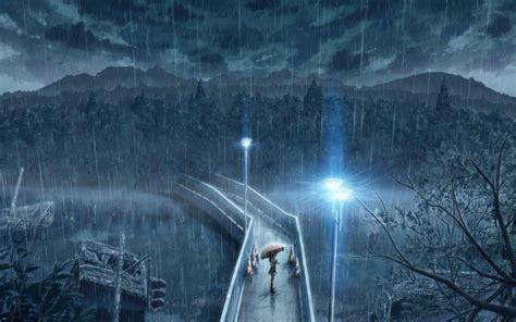 anime girl in the rain wallpaper anime rain wallpaper