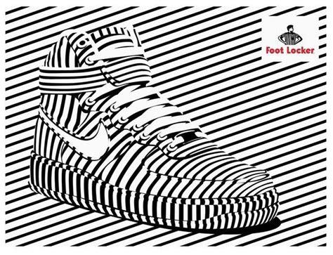 Op Art Sneaker Ads Footlocker Ad