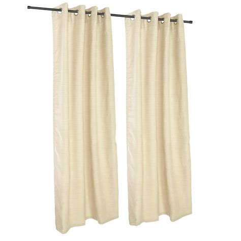 sunbrella outdoor curtain panels sunbrella dupione pearl grommeted outdoor curtains
