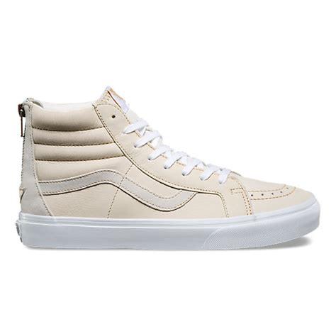 Sepatu Vans Sk8 Hi Premium premium leather sk8 hi reissue zip shop shoes at vans