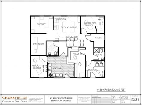 open space floor plans chiropractic office floorplan with open adjusting