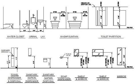Bathroom Fixture Manufacturers - bathroom fixtures mounting heights cad dwg cadblocksfree cad blocks free