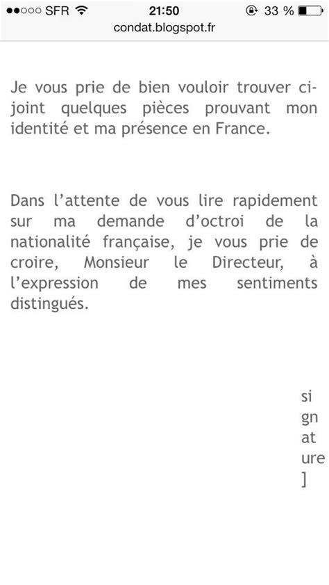 Demande De Naturalisation Française Lettre Lettre De Motivation Pour Acqu 233 Rir Nationalit 233 Fran 231 Aise