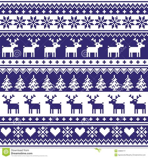 blue nordic pattern winter nordic seamless navy blue pattern with reindeer