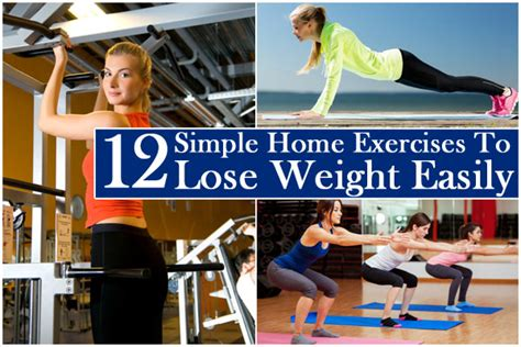 12 simple exercises to lose weight easily at home