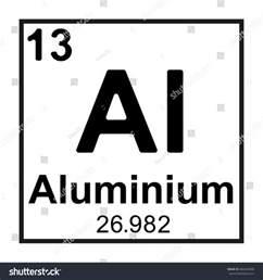 periodic table element aluminium stock vector 466645808