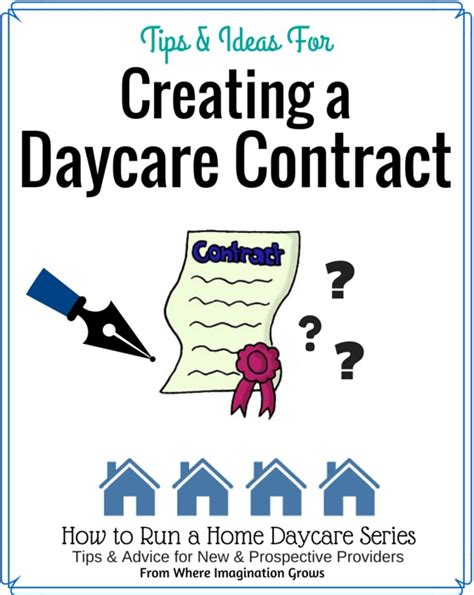 family day care parent handbook template creating a home daycare contract where imagination grows