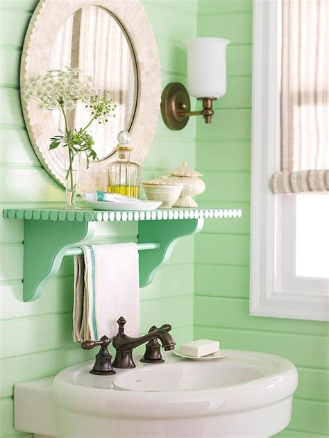 bathroom paint ideas pinterestbeautiful bathrooms add color to a cottage bath with seafoam