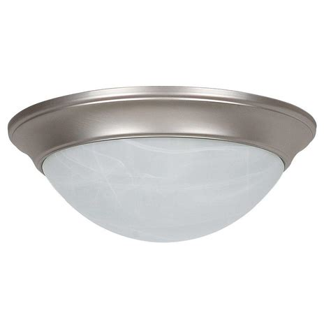 sea gull lighting clip ceiling flush mount 2 light brushed