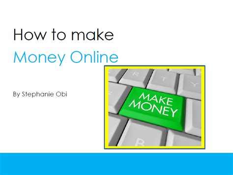 How To Make Money Online Book - what can i blog about stephanie obi
