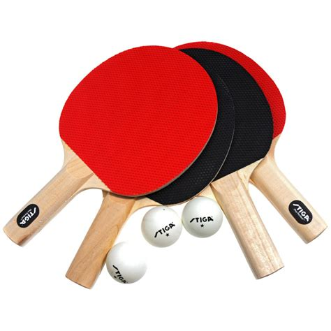 review of stiga classic 4 player table tennis racket set