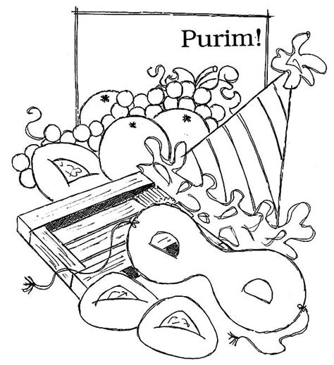 purim coloring pages az coloring pages