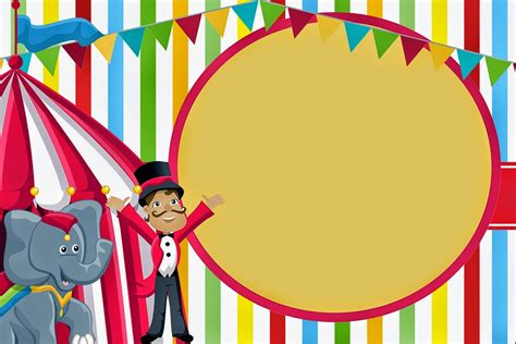Año 0 Calendario Chino El Circo Invitaciones Y Etiquetas Para Bar Para