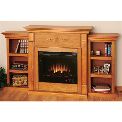 teri electric fireplace with bookcases 126410