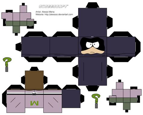 Papercraft Park - mysterion cubee by alessoo on deviantart