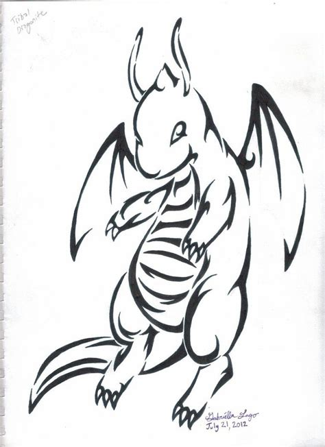 tribal tattoo pokemon dragonite tribal inked