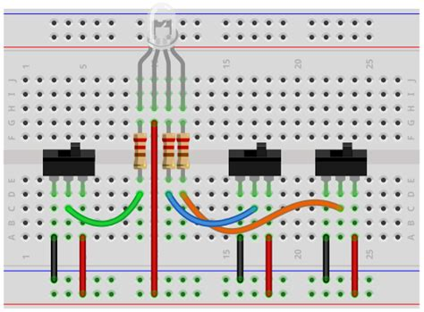 led anode cathode connection how to build a common anode rgb led circuit