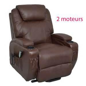 fauteuil relaxant fauteuil relax massant chauffant releveur cuir kalinka 2 moteurs