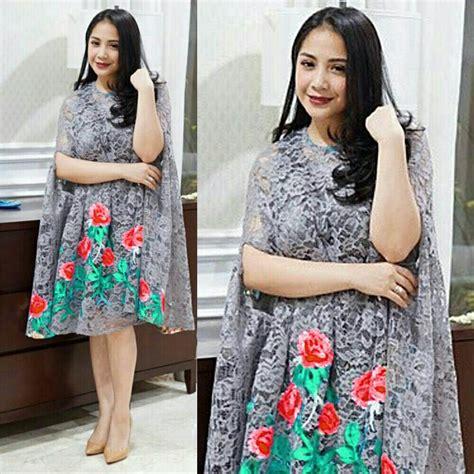 Harga Kaftan Pendek by Baju Dress Pendek Kaftan Nagita Bahan Brukat Model Terbaru