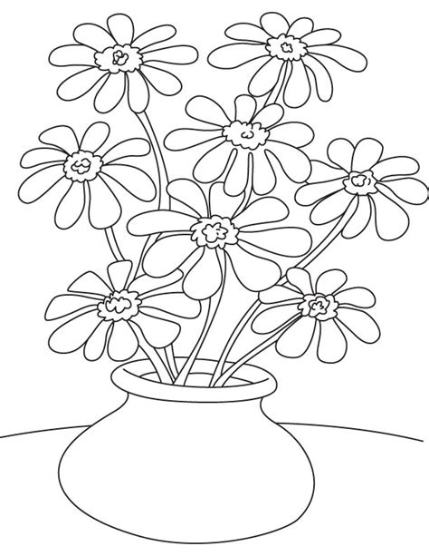 coloring pages of flowers in a pot free coloring pages of pot of flowers