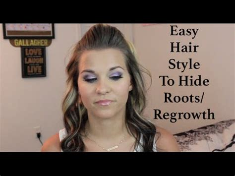 hairstyles to hide roots easy hairstyle to hide regrowth roots youtube