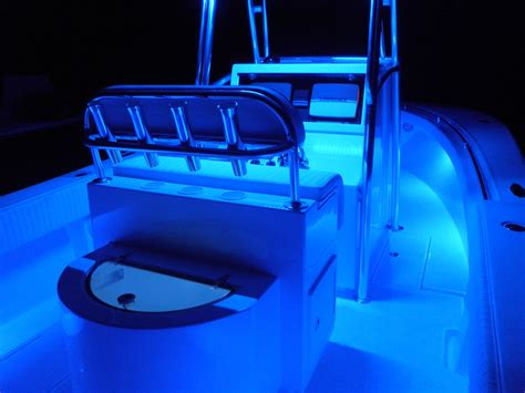 boat gunwale lights seamaster lights mounted under gunwale on center console