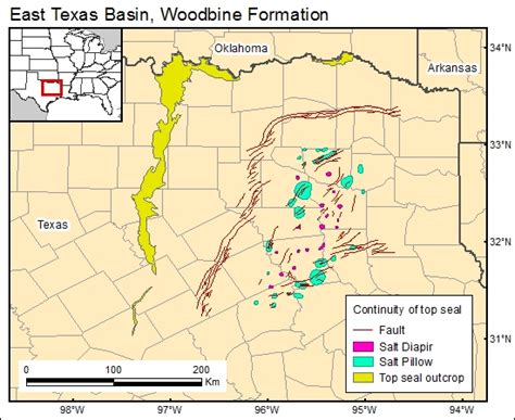 map of mexia texas co2 brine database
