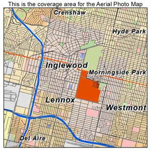 aerial photography map of inglewood ca california
