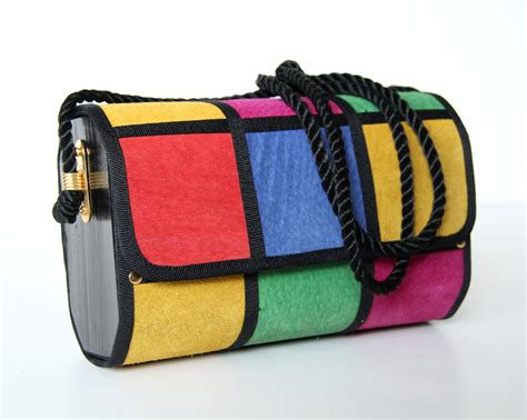whats the name of the 80 000 purse porsha williams had on atlanta house wives vintage 80s purse multi color block patchwork suede