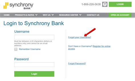 synchrony bank online banking login cc bank