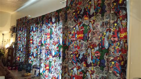 comic book curtains comic book curtain for kids room or bachelor pad