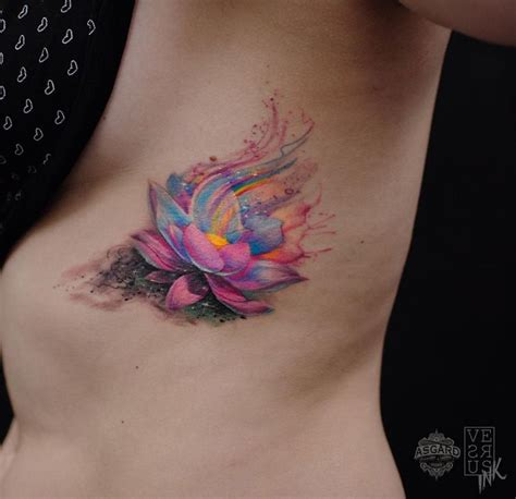 watercolor tattoo artists near me watercolor lotus flower lotus flower
