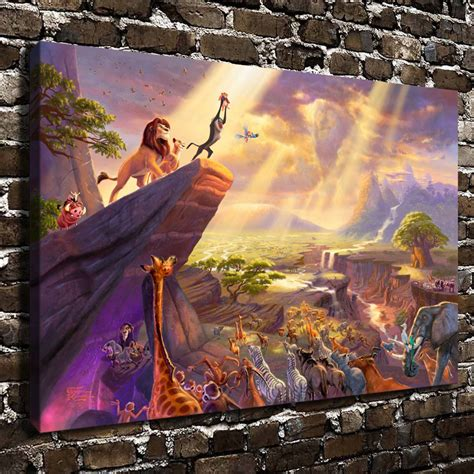 lion king home decor h1215 thomas kinkade the lion king hd canvas print home